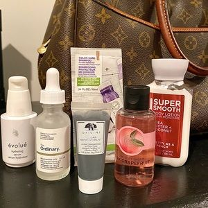 Lot Of Travel Size Skincare/ Haircare
